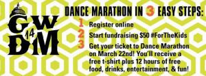 The first GW Dance Marathon will take place on March 22 from 3 p.m. until 3 a.m. in the Lerner Health and Wellness Center. Photo Courtesy: GW Dance Marathon Facebook Page